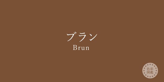 ブラン(Brun)の色見本