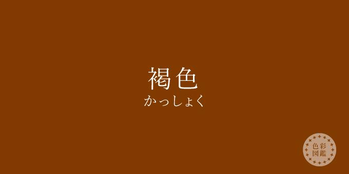 褐色(かっしょく)の色見本