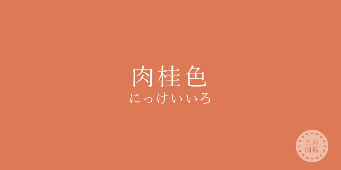 肉桂色(にっけいいろ)の色見本