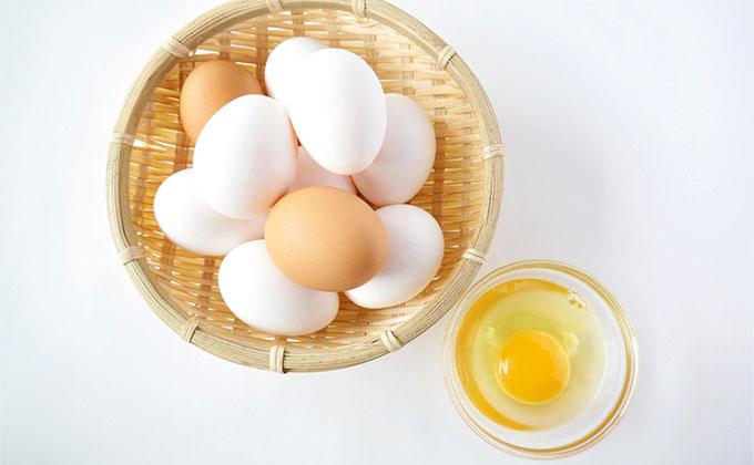 卵の殻と黄身の色