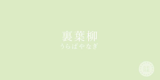 裏葉柳(うらばやなぎ)の色見本