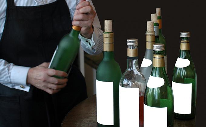 ワインボトルの色
