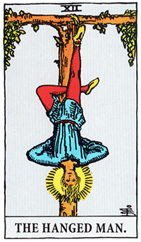 the_hanged_man タロットカードの緑の意味